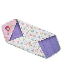 Abracadabra Quilted Hooded Baby Wrapper Chirpy Bird - Pink & Purple