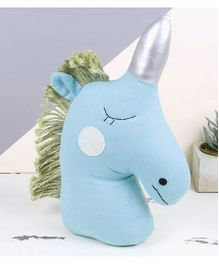 Abracadabra Decorative Unicorn Cushion - Blue