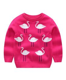 Pre Order - Awabox Flamingo Design Sweater - Rose