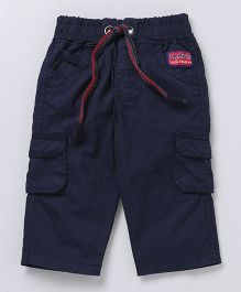 Little Kangaroos Trousers With Elastic Waist - Navy Blue