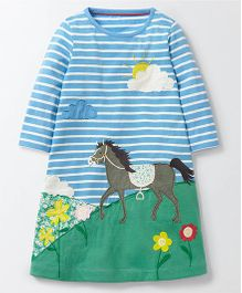 Pre Order - Awabox Horse Print Dress - Blue