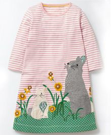Pre Order - Awabox Rabbit Print Dress - Pink