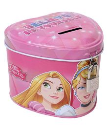 Disney Princess Metal Coin Bank - Pink