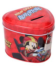 Disney Mickey Mouse Metal Coin Bank - Red