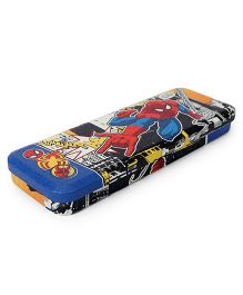 Marvel Spiderman Metal Pencil Box - Blue Red