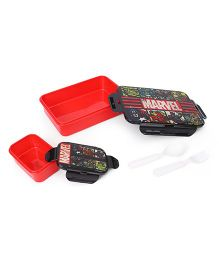 Marvel Avengers Printed Lunch Box - Red Black