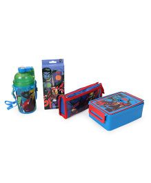 Marvel Avengers School Combo Set of 4 - Blue Red