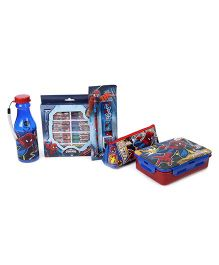 Marvel Spiderman School Combo Set of 5 - Blue Red