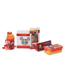 Disney Mickey Mouse School Combo Set of 5 - Red Yellow