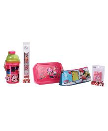 Disney Minnie Mouse School Combo Set of 5 - Pink Green