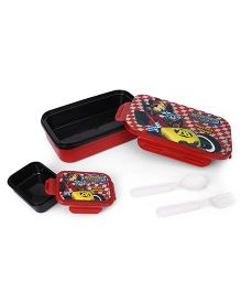 Disney Mickey Mouse Insulated Lunch Box With Small Box - Red & Black