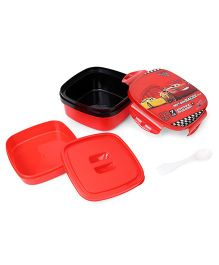 Disney Pixar Cars Square Shape Lunch Box - Black Red