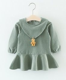 Superfie Hanging Teddy Dress - Green