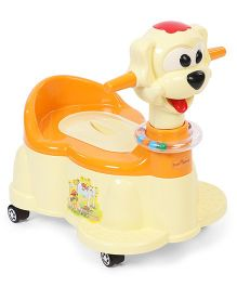1st Step Musical Potty Seat With Wheels - Cream Orange