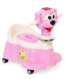1st Step Musical Potty Seat With Wheels - Pink & White