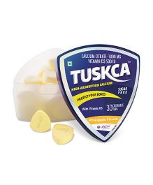 Tuskca Sugar Free Calcium Pineapple 30 Chewable Tablets - Pack Of 2