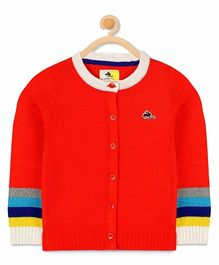 Cherry Crumble California Playful Sweater Cardigan - Red