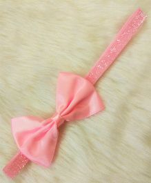 Magic Needles Hairband With Satin Bow - Pink