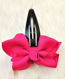 Magic Needles Tictac Clip With Bow - Dark Pink