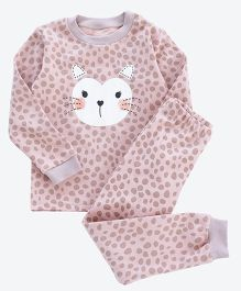 Pre Order - Awabox Funny Face Print Night Suit - Pink