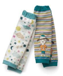 Dazzling Dolls Printed Baby Leg Warmers Set Of 2 - Multicolor