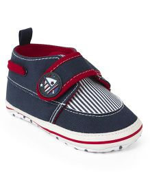 Cute Walk by Babyhug Shoes Style Booties - Navy Blue Red