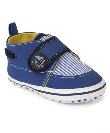 Cute Walk by Babyhug Shoes Style Booties - Royal Blue White