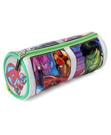 Marvel Avengers Round Pencil Pouch - White Green