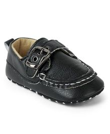 Cute Walk by Babyhug Shoes Style Booties - Black