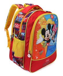 Disney Mickey Mouse School Bag Multi Colour - Height 15.55 inches