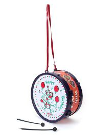 Luvely Drum Musical Drum Toy - Navy & Red