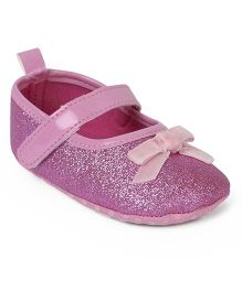 Cute Walk by Babyhug Belly Booties - Pink