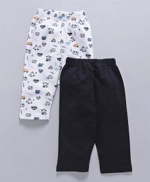 Babyhug Full Length Lounge Pant Car Print Pack of 2 - Navy White