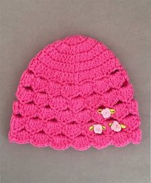 Buttercup From Knittingnani Cute Scalloped Cap - Rose Pink