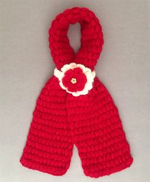 Buttercup From Knittingnani Bobble Scarf - Red
