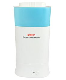 Pigeon Compact Steam Steriliser - White Blue