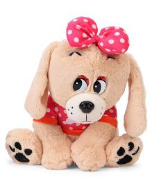Fun Toys Puppy Soft Toy Light Brown - Height 34.5 cm