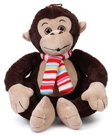Fun Toys Monkey Soft Toy Brown - Height 30 cm