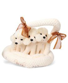 Fun Toys Puppy Kennel Pack of 3 Cream - Length 18 cm