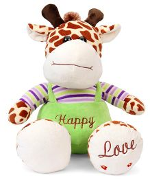 Fun Toys Giraffe Soft Toy Brown & Off White - Height 32 cm
