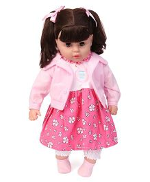 Fun Toy Articulated Doll Pink - 68 cm