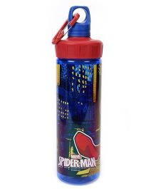 Marvel Spiderman Transparent Screw Cap Bottle Red Blue - 600 ml