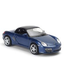 Welly Die Cast Porsche Boxster Car Toy With Soft Roof Top - Navy Blue