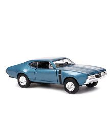 Welly 1968 Oldsmobile 442 Die Cast Pull Back Car Toy - Blue