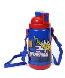 Marvel Spiderman Stainless Steel Insulated Sipper Bottle Blue Red - 500 ml