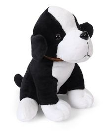 Dimpy Stuff Puppy Soft Toy Black - Height 18 cm