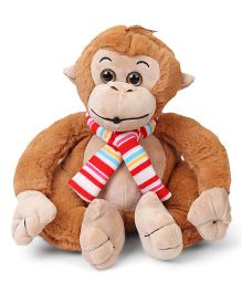 Fun Toys  Whistling Monkey Light Brown - Height 30 cm