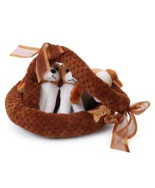 Fun Toys Puppy Kennel Pack of 3 Brown - 30 cm