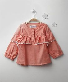 Soul Fairy Ruffled Top - Peach