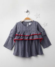 Soul Fairy Ruffled Top - Blue